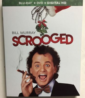 Scrooged Bill Murray Blu-Ray Slipcover Only (No Movie) Christmas Rare Hht Oop!