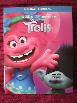 Trolls Dreamworks Blu-Ray Slipcover Only (No Movie) Free Shipping - Rare Htf Oop
