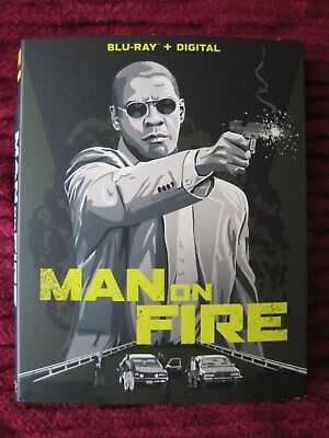 Man On Fire Blu-Ray Slipcover Only (No Movie) Free Shipping! - Rare Htf Oop