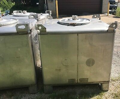 350 Gallon TranStore 304 Stainless Steel Stackable Totes / Tanks