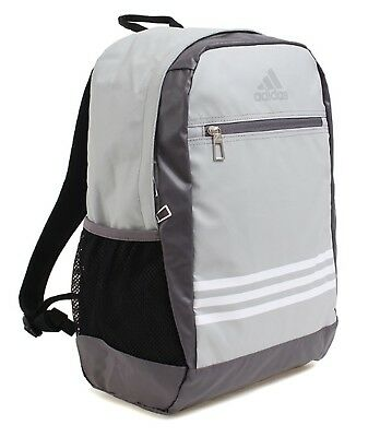 4d4697c680ab Adidas 3S Stripe Backpack Bags Sports Gray School Casual Unisex GYM Bag  BR6300