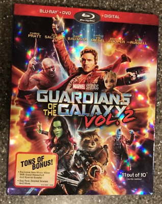 Marvel Guardians Of The Galaxy Vol. 2  Blu-Ray + Dvd Slipcover Only! (No Movie)