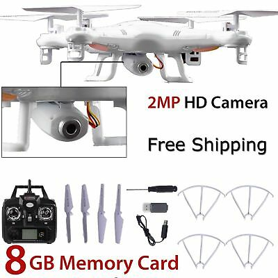 8GB TF Card X5C-1 RC 0.3MP Camera Drone 2.4Ghz 6-Axis RTF Helicopter UAV Gyro