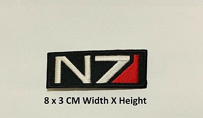 N7 Logo Mass Game Gaming Gamers Embroidered Iron On Sew On Patch Badge #588
