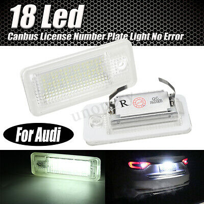 Coppia Luci Targa Placchette 18 Led Specifiche No Error Per Audi A3 S3 A6 6000K