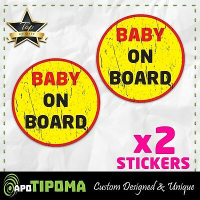 7232ba9dae4 BABY ON BOARD sticker decal SAFETY car truck jeep WINDOW SIGN JDM MOTHER  FUNNY