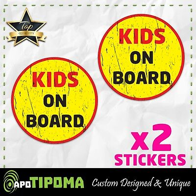 2pc Premium Laminated Stickers Baby on Board Sign Pink for Girlz