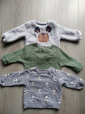 Boys 3 pack jumpers, 3-6 months