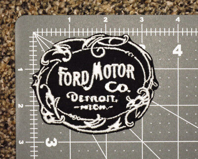 Vintage Ford Motor Logo Car Biker Formula Racing Mechanic Trucker Patch -Usa