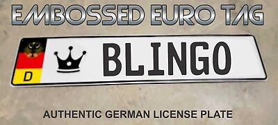 BMW German Eagle Euro European License Plate Embossed - BLINGO -  GERMANY