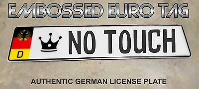 BMW German Eagle Euro European License Plate Embossed - NO TOUCH -  GERMANY