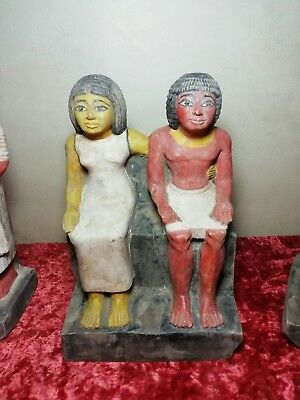 Black Friday Ancient Egyptian statue of Royal Acquaintance Katep and his wife BC