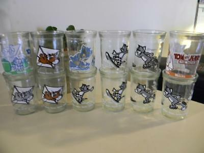 Lot Of 12 Vintage Welch's Jelly Glasses - Tom & Jerry 1990 1991 1993