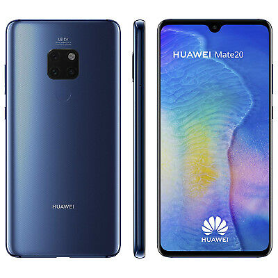 New Huawei Mate 20 128GB 6GB Blue Dual Sim Unlocked - Free UK Delivery