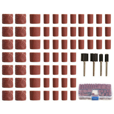 100pcs 60/120/320 Grit Drum Sanding Kit Fit Rotary Tools with 1/2 1/4 Inch