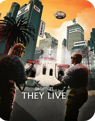 John Carpenter's: They Live - Limited Edition SteelBook [Blu-ray] New!!