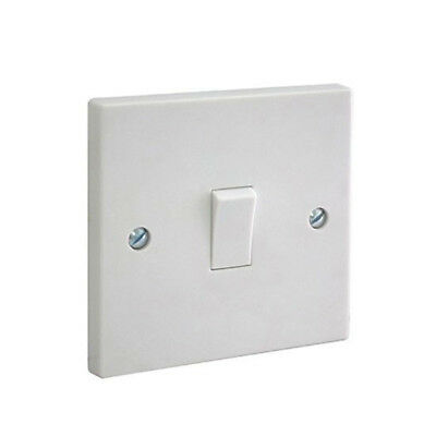 White Single 2 Way Electric Light Switch 1 Gang Electrical Wall 10 amp