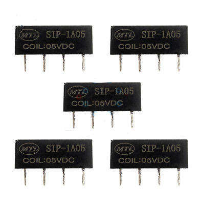 5PCS 5V Relay SIP-1A05 Low Power DC Reed Switch 4PIN High Quality