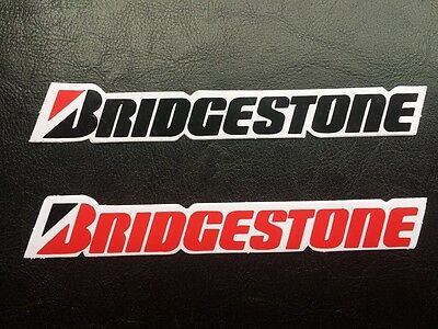 Bridgestone Stickers / Decals x 2 - Tyres. Red, Black & White