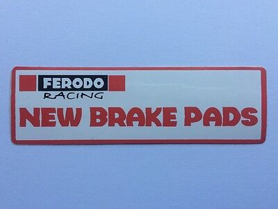 Genuine Ferodo Sticker / Decal - brakes pads discs calipers Fluid