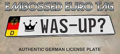 BMW German Eagle Euro European License Plate Embossed - WAS-UP? -  GERMANY