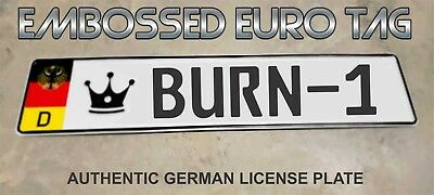 BMW German Eagle Euro European License Plate Embossed - BURN-1 -  GERMANY