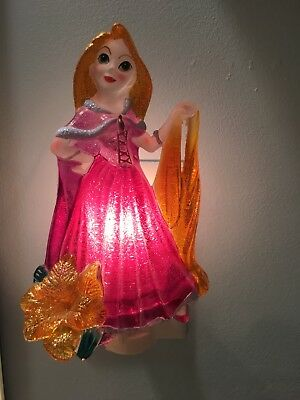 Disney Princess ~ RAPUNZEL ~ Plug-In NIGHT LIGHT ~ Girls Room Decor ~ Works Well