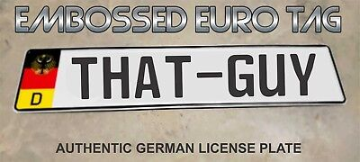 BMW German Eagle Euro European License Plate Embossed - THAT-GUY -  GERMANY