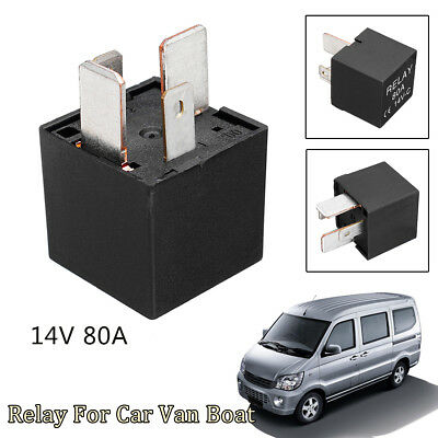 14V Car Van Boat Motorbike 4 Pin Heavy Duty Split Charge ON/OFF Relay 80A 80 Amp