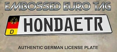 BMW German Eagle Euro European License Plate Embossed - HONDAETR -  GERMANY