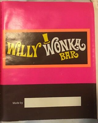 Original 1970s Willy Wonka Candy Wrapper for homemade candy bars.  Collectible