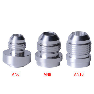 Alloy AN6 / 8 /10 AN Male Car Performance Hose Fitting Adapter Weld Bung Nitrous
