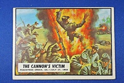 "1962 Topps Civil War News - #72 ""The Cannon's Victim"" - VG/Ex Condition"