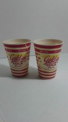 2 Vintage paper cup SUN DROP GOLDEN GIRL COLA 4oz size unused new old stock