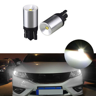 2x 3W CREE White T10 LED Bulbs For Car Parking Positon Lights 168 194 2825 W5W