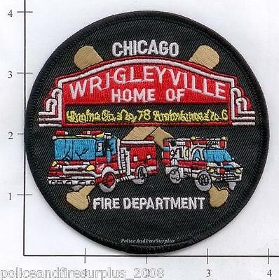 Illinois - Chicago Engine 78 Amb 6 IL Fire Patch Wrigleyville  Chicago Cubs