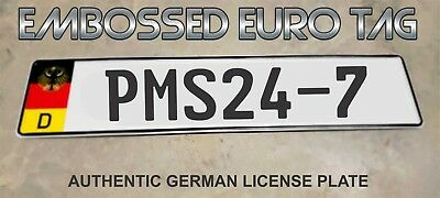 BMW German Eagle Euro European License Plate Embossed - PMS24-7 -  GERMANY