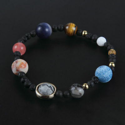 New Nine Planets Of Solar System Fashion Women Gifts Girl Beaded Bracelet Stone
