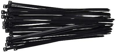 100Pcs Nylon Cable Ties Strong Black Plastic 5mm*300mm Zip Tie Wraps