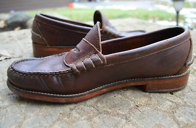 c38d5c66a92 Oak Street Bootmakers Beef Roll Penny Loafers US M SZ 8 D Brown Leather
