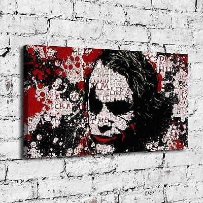 "16""x28""The Joker Poster  Home Decor Picture HD Canvas prints Wall art Painting"