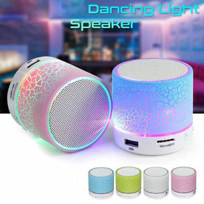 NEW LED Rechargeable Luminous Lamp Wireless Speaker Portable Mini Super Gift