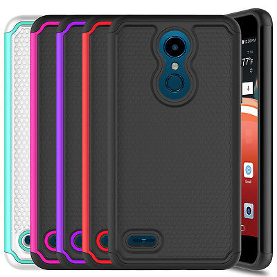 For LG Xpression Plus/Phoenix Plus Hard Case Cover + Glass Screen Protector Film