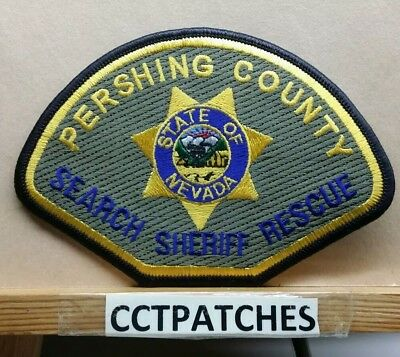 Pershing County, Nevada Sheriff Search Rescue (Police) Shoulder Patch Nv