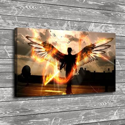 "16""x28"" Angel Wings Poster Home Decor Picture HD Canvas prints Wall art Painting"