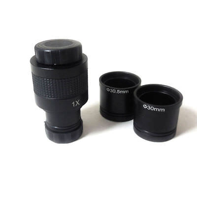 1X Microscope Camera Digital Eyepiece C Mount Lens Adapter with Adapter Rings