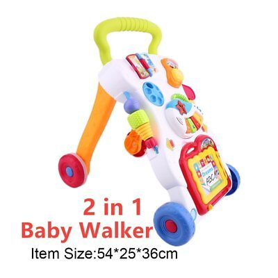 Andador Ajustable Baby First Steps Car Sit-to-Stand Walker para Niños Musical