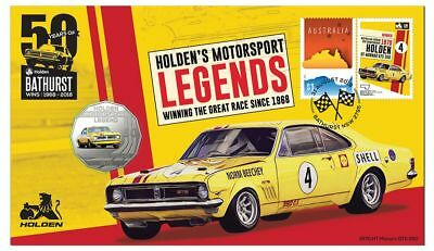 Holden HT Monaro GTS 350 - 2018 50c Stamp and Coin Cover - PNC