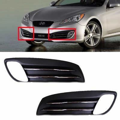 Fog Light Lamp Cover Left Right 2PCS OEM For Hyundai Genesis Coupe 2009-2012