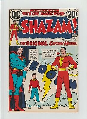 Shazam #1 (Feb. 1973, DC) VF- (7.5) Revival of Original Captain Marvel !!!!!!!!
